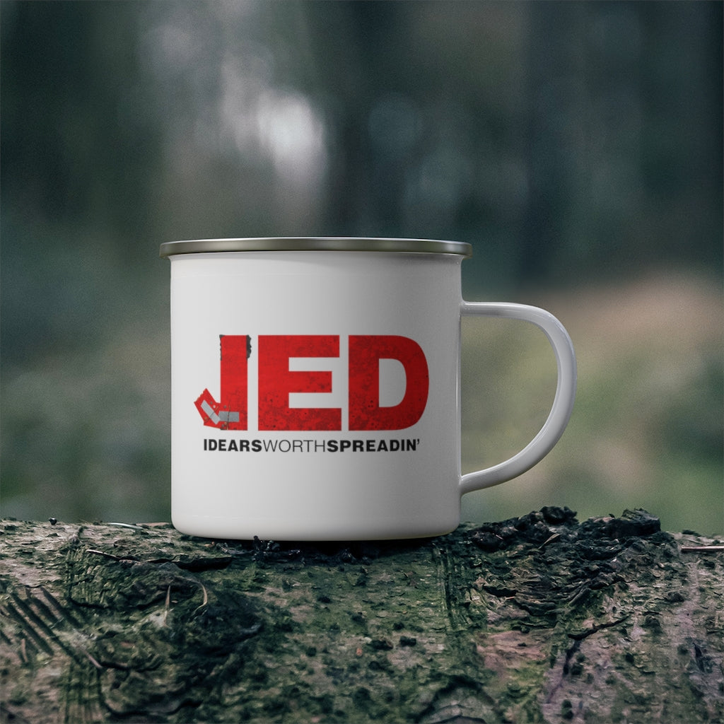 Jed Talks Enamel Mug