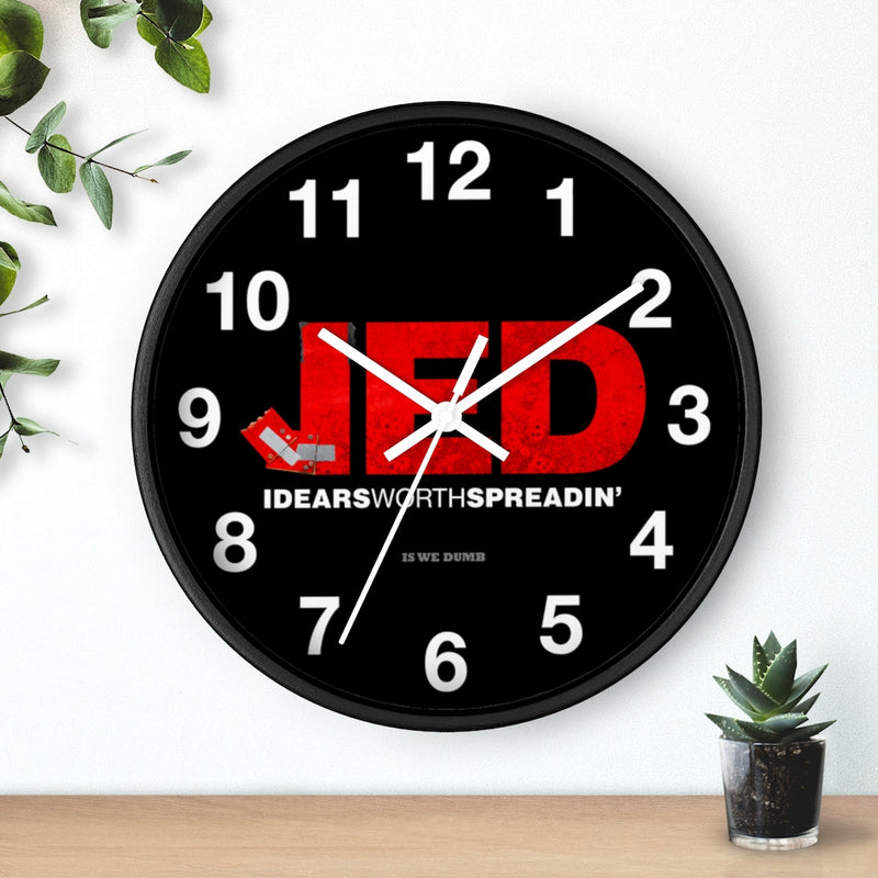 Jed Talks Wall clock