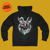 Demon Cat French Terry Zip Hoodie