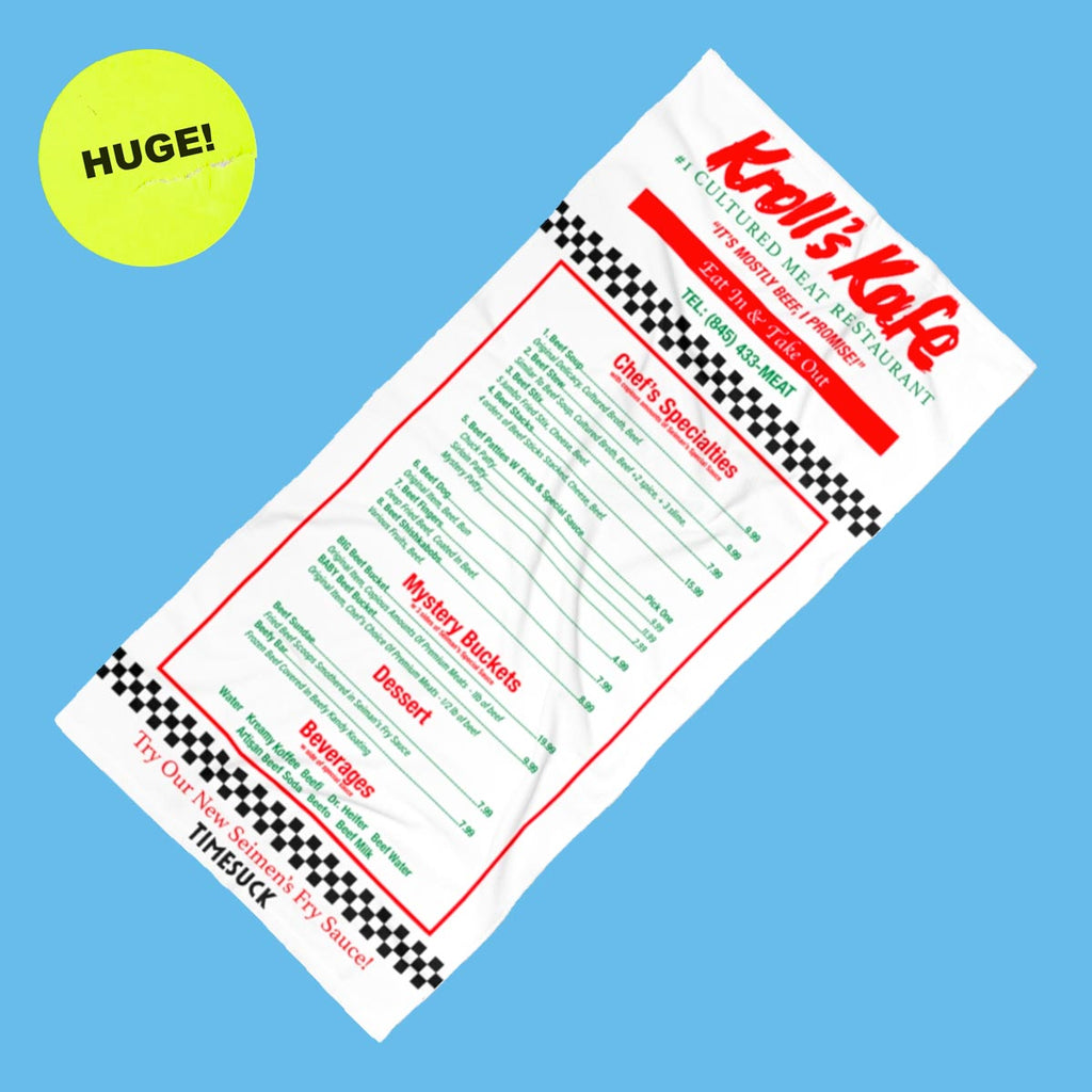 Kroll's Kafe Beach Towel