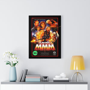 Saving MMM Framed Canvas