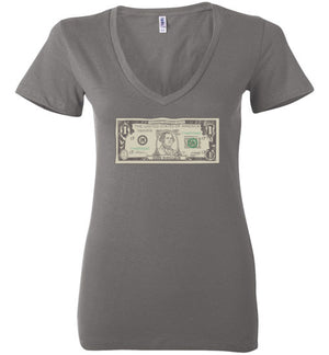 iMsingle Women's V-Neck Tee