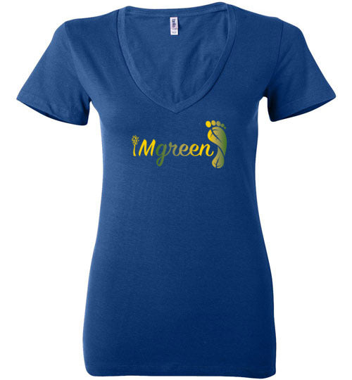 iMgreen Women's V-Neck Tee
