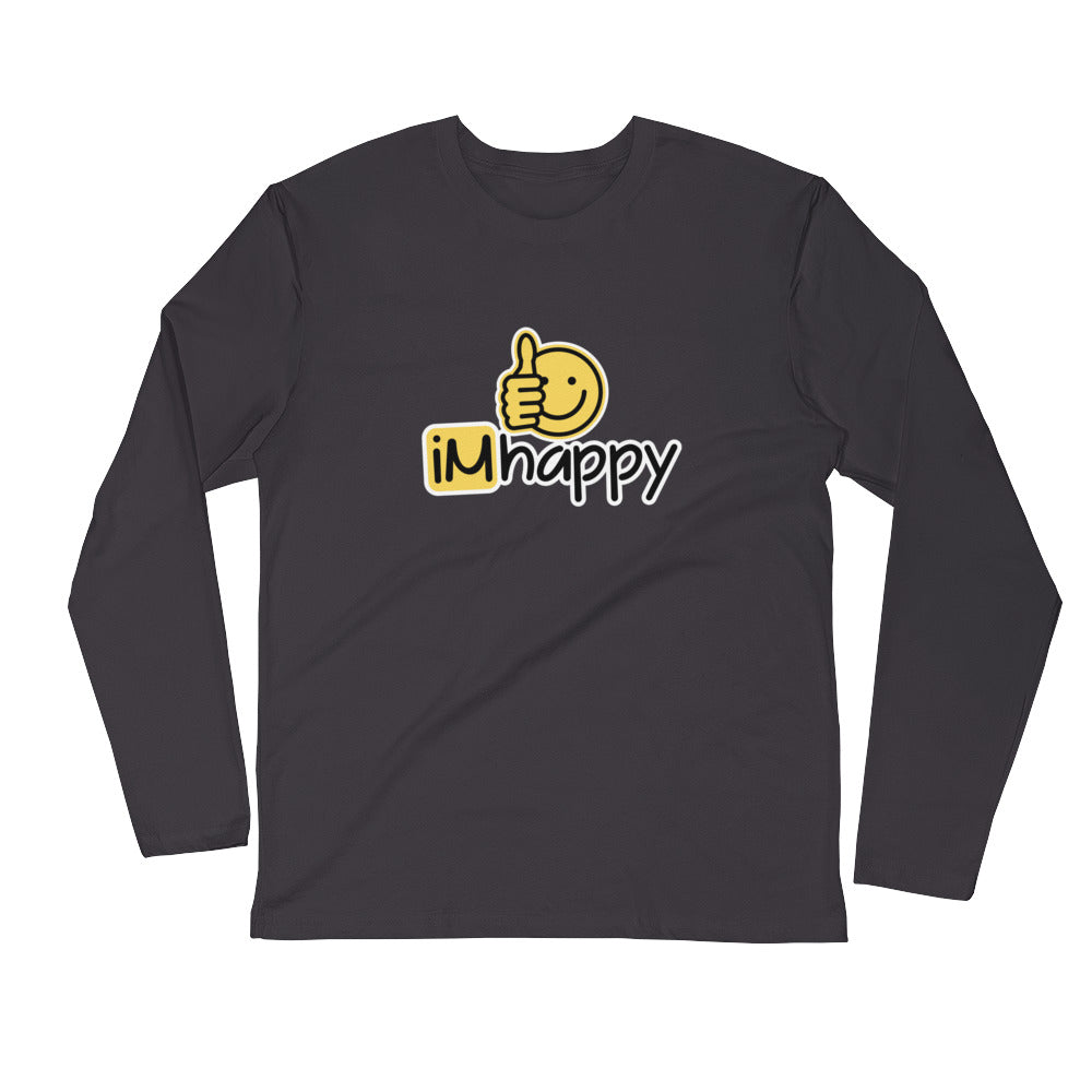 iMhappy Men's L/S Fitted Tee