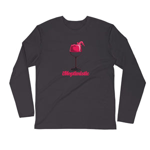 iMoptimistic Men's L/S Fitted Tee