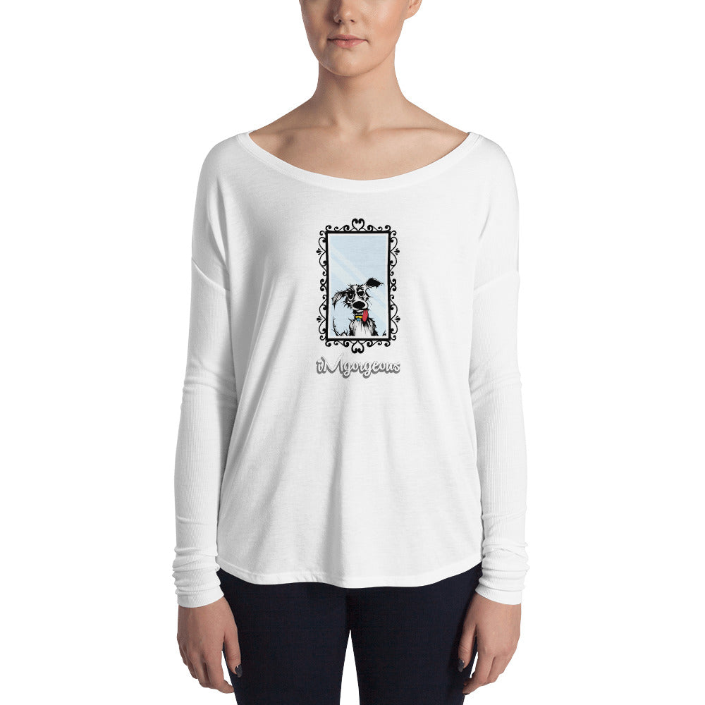 iMgorgeous Women's Flowy Long Sleeve Tee