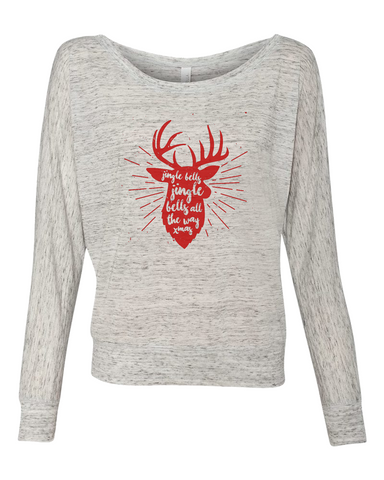 Jingle Bells Deer in Red Graphic Tee - Libby and Dot Collections