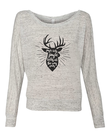 Jingle Bells Deer in Black Graphic Tee - Libby and Dot Collections
