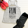 Run like Cupcakes are Waiting Tank Graphic Tee