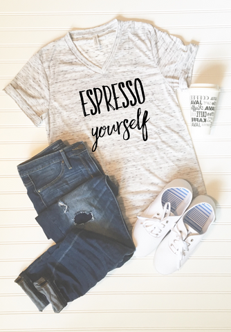 Espresso Yourself Graphic Tee - Libby and Dot Collections