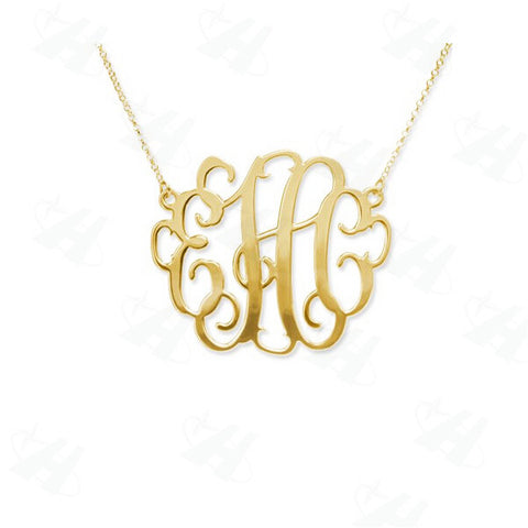 Monogram Necklace Pendant - Libby and Dot Collections