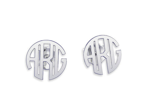 Circle Monogram Stud Earrings - Libby and Dot Collections
