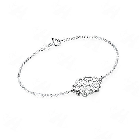 Monogram Bracelet Silver - Libby and Dot Collections