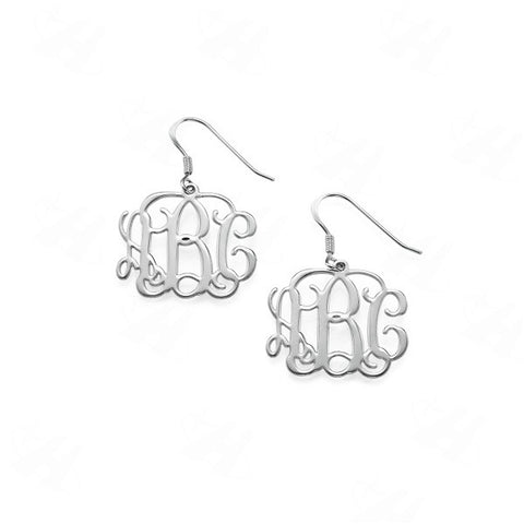 Monogram Initial Dangle Earrings - Libby and Dot Collections