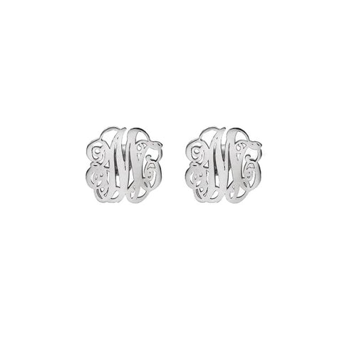 Monogram Initial Stud Earrings - Libby and Dot Collections