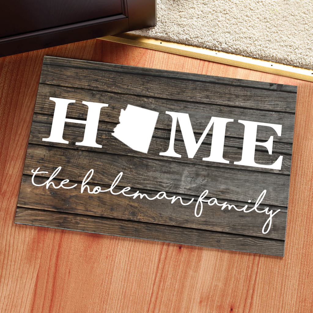 Personalized State Doormat Rug - Multiple Sizes Available - Libby and Dot Collections