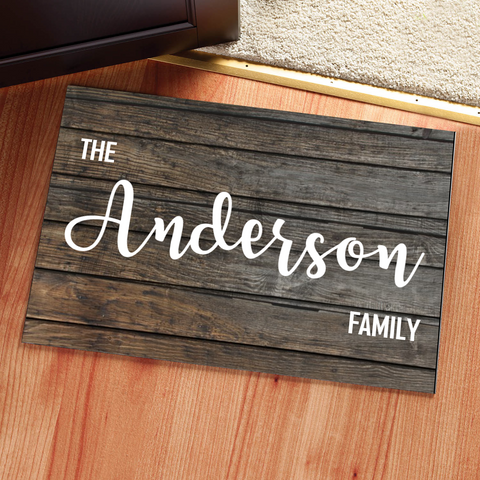 Personalized Wood Doormat Rug - Multiple Sizes Available - Libby and Dot Collections