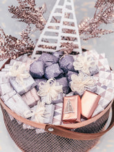Load image into Gallery viewer, Rose Gold Christmas Metal Basket