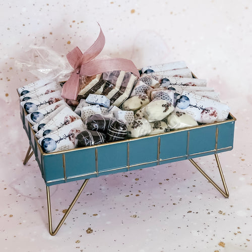 Pink & Blue Ramadan Metal Tray