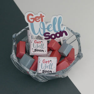 Get Well Soon - Chocolate Glass Bowl