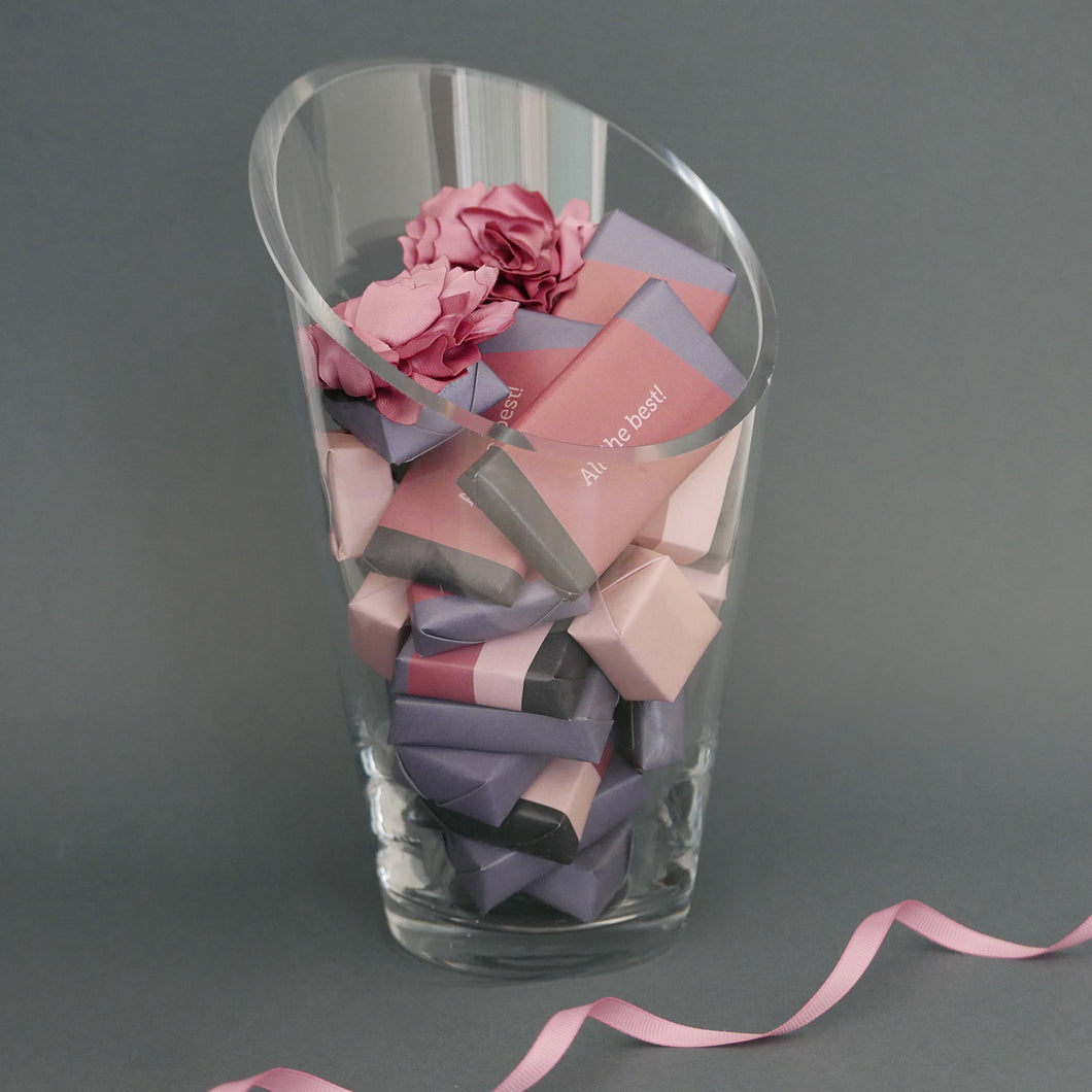 Best Wishes - Chocolate Vase