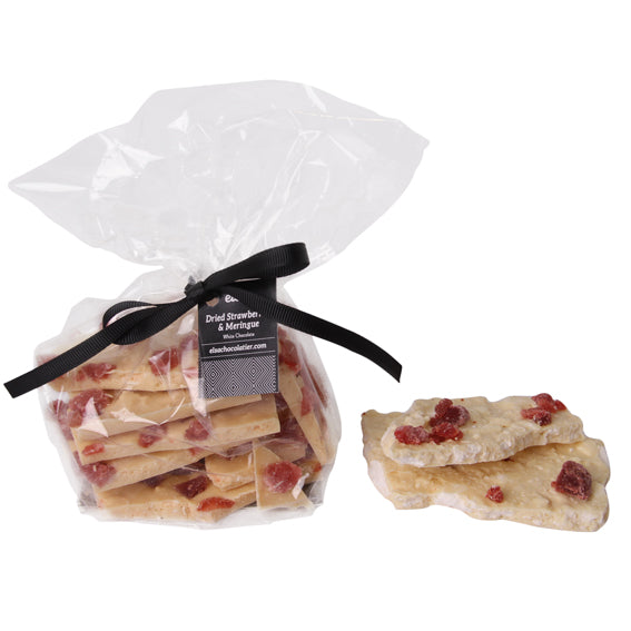 Dried Strawberries and Meringue - White Chocolate