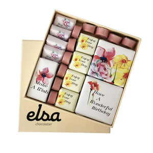 Floral Birthday chocolate Box