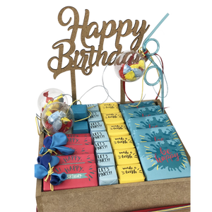 colored birthday chocolate hamper gift