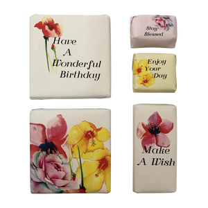 floral birthday chocolate