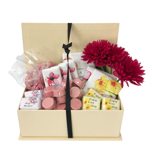 floral birthday chocolate hamper