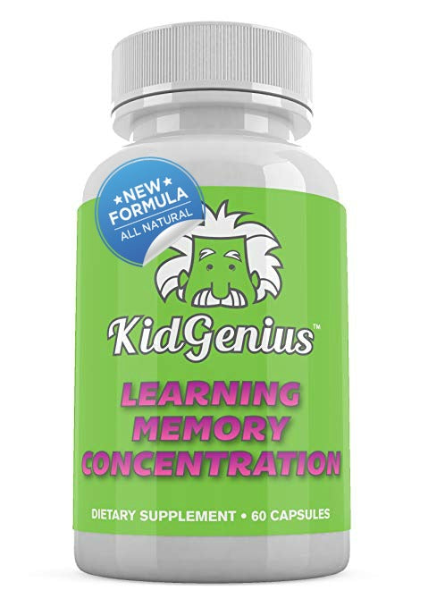 KidGenius New All Natural Memory Supplement- Learning, Memory, Concentration