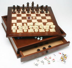 10-in-1 Wooden Combination Game Set
