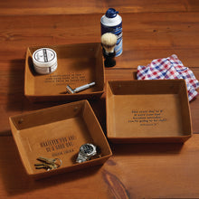 Genuine Leather Tray - Assorted 3 Quotes