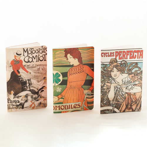 L'Affichomania Mini Notebooks - Set of Three