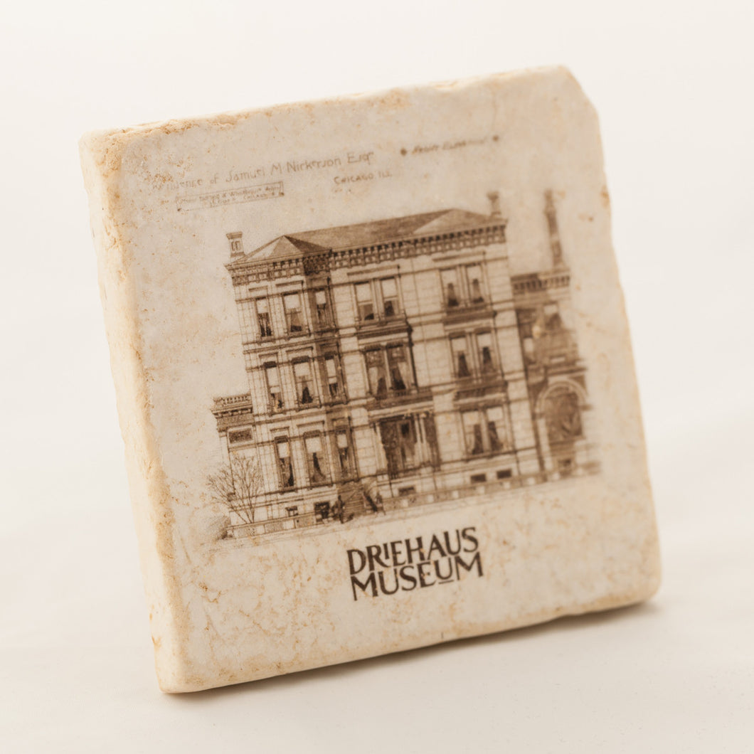 Driehaus Museum Collection Marble Coaster