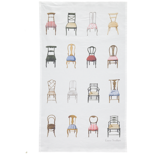 Musical Chairs Linen Union Tea Towel