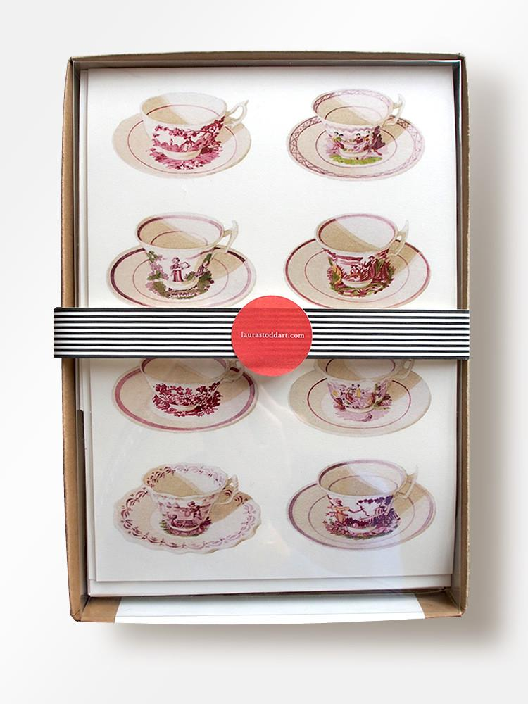 Tea Time Boxed Stationery