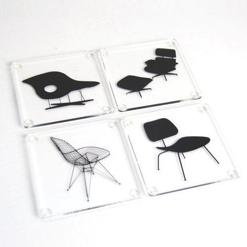 Eames Chairs Coasters - Set of 4