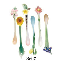 Garden Party Porcelain Spoons - Set of 6