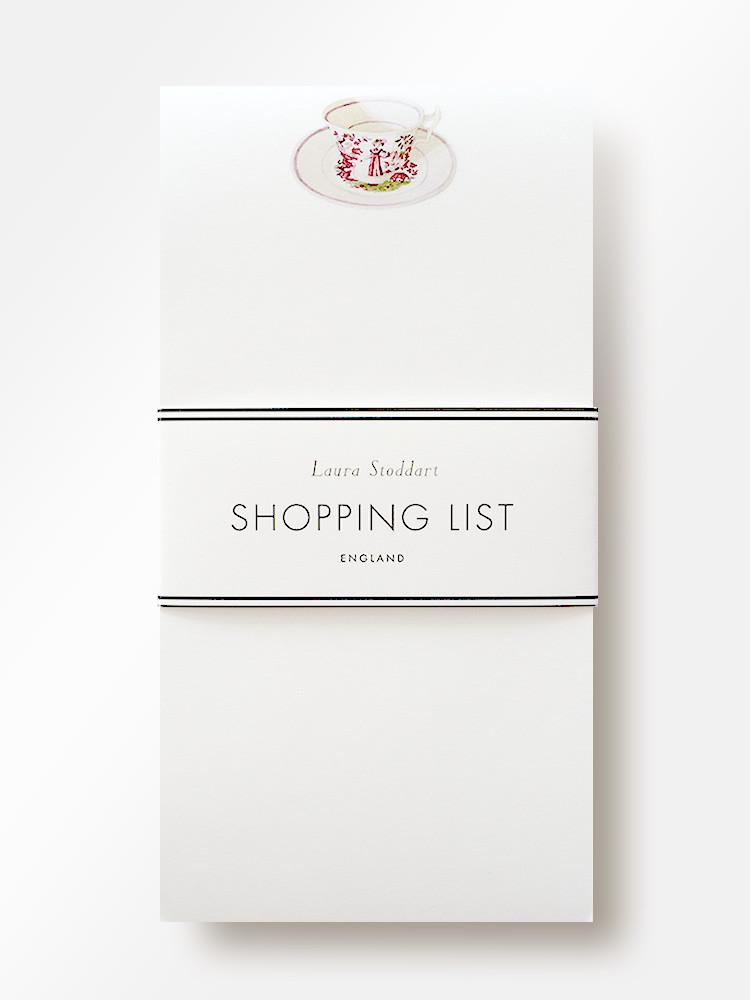 Tea Time Illustrated Shopping List Pad