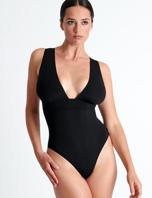 Shan Intemporel Plunge One Piece Swimsuit SWIM - ONE PIECE SHAN CAVIAR 10