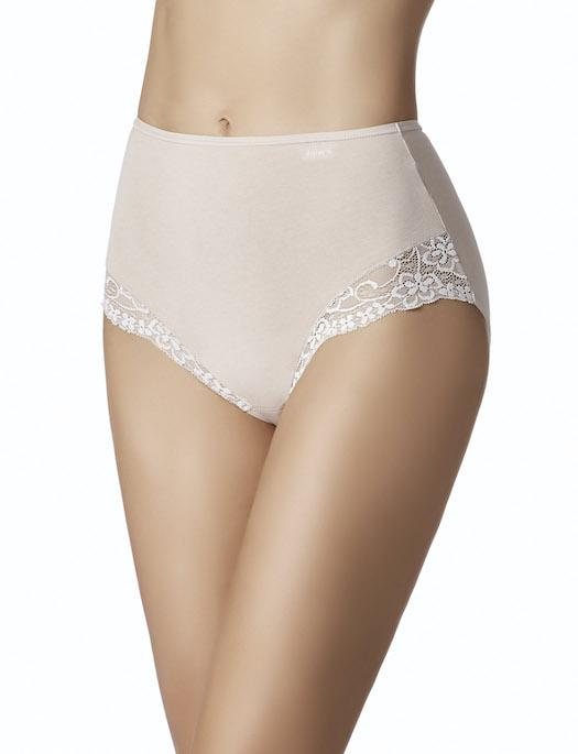 Janira Cotton Escencial Braga Queen High Waist Brief 2-Pack PANTY - BRIEF - ODD JANIRA DUNE 3X