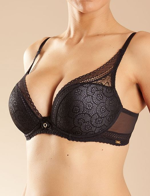 Chantelle Festivite Lace Plunge Bra BRA - BASIC - T-SHIRT CHANTELLE BLACK 32G