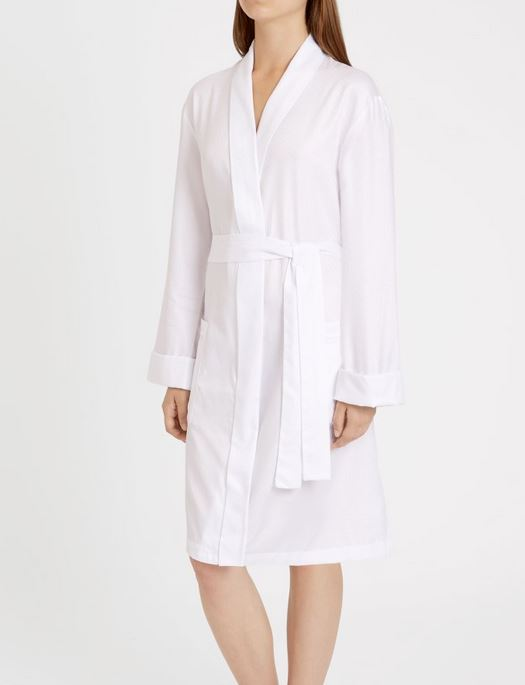 Derek Rose Kate 7 Cotton Dressing Gown SLEEPWEAR - ROBE - ROBE 3 ($201-$300) DEREK ROSE WHITE XL