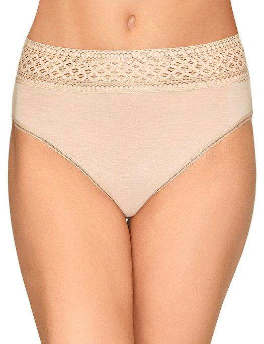 Wacoal Subtle Beauty High Cut Cotton Brief PANTY - BRIEF - BASIC WACOAL SAND MD