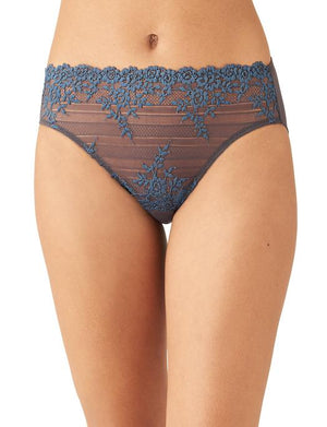 Wacoal Embrace Lace Hi Cut Brief PANTY - BRIEF - ODD WACOAL NINE IRON/ENSIGN BLUE 2X