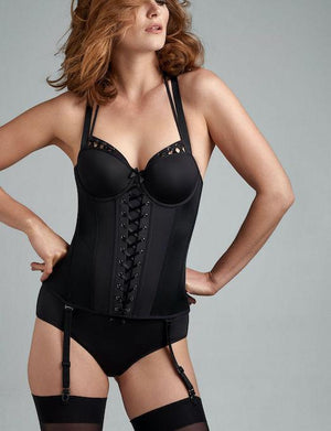 Marlies Dekkers Angel of Harlem Corset BRA - FASHION - BUSTIER MARLIES DEKKERS BLACK 34E