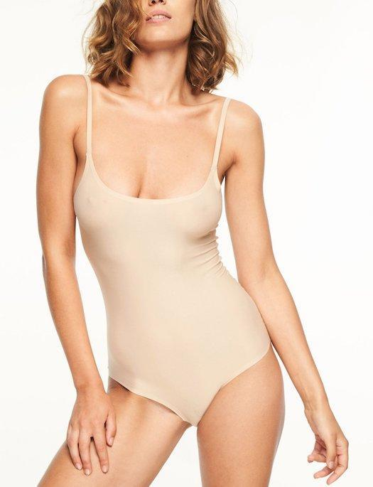 Chantelle Soft Stretch Smooth Bodysuit BRA - BASIC - BODYSUIT CHANTELLE WU-ULTRA NUDE XL/2X