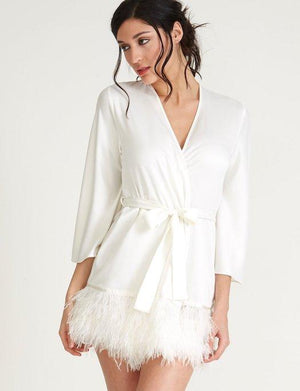 The Rya Collection Swan Cover Up SLEEPWEAR - ROBE - ROBE 2 ($101-$200) Rya Collection IVORY XL