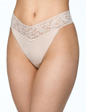 Hanky Panky Cotton with a Conscience Original Rise Thong PANTY - THONG - ODD Hanky Panky CHAI O/S
